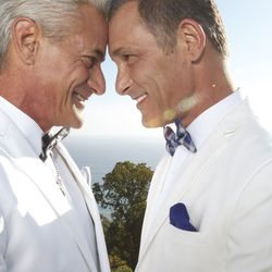 Olympian Greg Louganis married his partner, Johnny Chaillot, in Malibu, Calif. on Oct. 12, 2013, six months after becoming engaged.