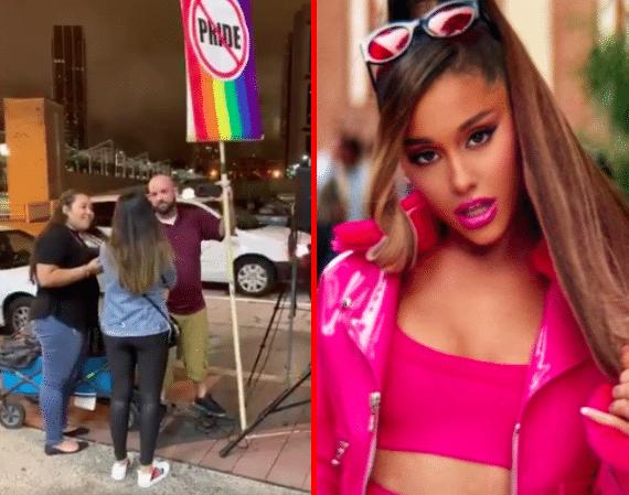 Ariana Grande and a homophobe