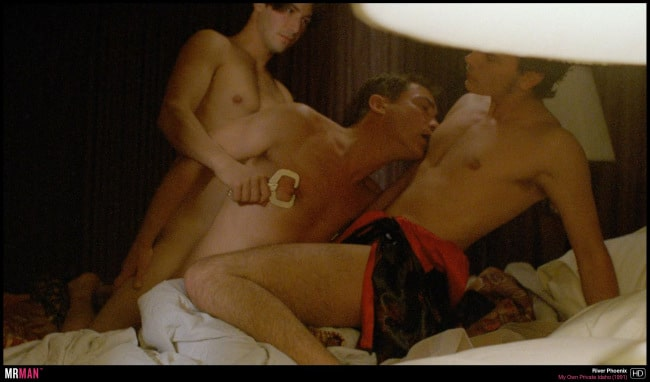 keanu reeves river phoenix gay my own private idaho bed