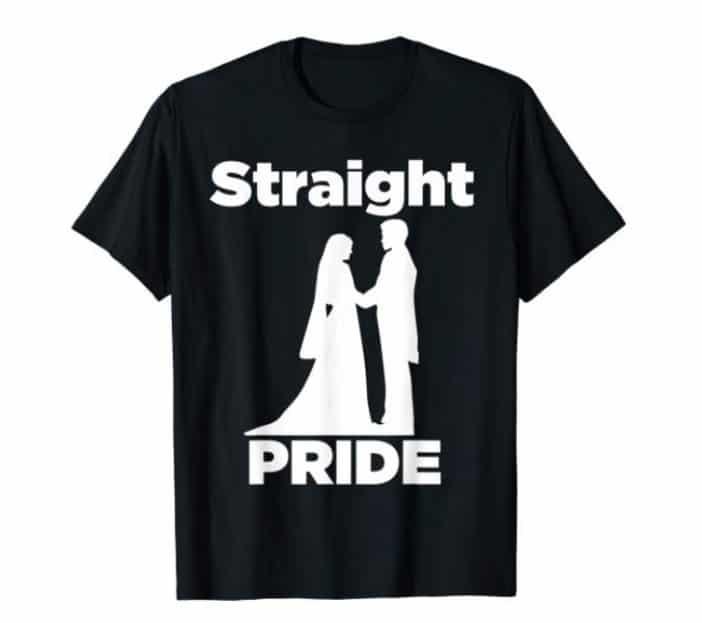 Straight pride T-shirt