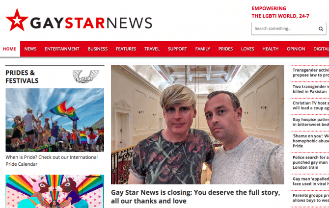 gay star news page