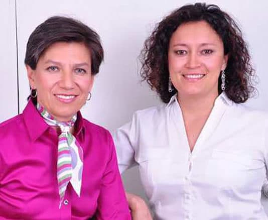 Bogota Mayor Claudia Lopez and her new wife Angelica Lopez